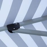 Bistro Breeze 3m Navy & White Striped Santorini Market Umbrella