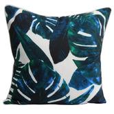 Bistro Breeze Blue Monstera Outdoor Cushion