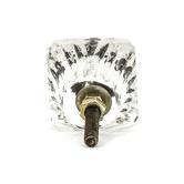 DoUP Square Patterned Glass Knob