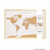 Splosh World Map Travel Board