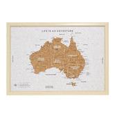 Splosh Australia Map Travel Board