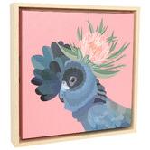 Splosh Botanica Cockatoo Framed Canvas Wall Art