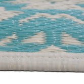 Artisan Decor Sky Blue Chatai Classic Outdoor Rug