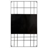 VT Wonen Black Rectangular Metal Wire Magnetic Memo Board