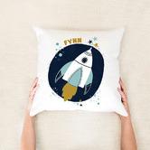 Happy Joy Décor Space Rocket Personalised Cotton Cushion