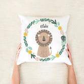 Happy Joy Décor Lion Kids Personalised Cotton Cushion
