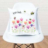 Happy Joy Décor Sprint Tulip Personalised Cotton Cushion