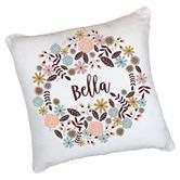 Happy Joy Décor Boho Floral Girls Personalised Cotton Cushion