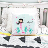 Happy Joy Décor Mermaid Personalised Cotton Cushion