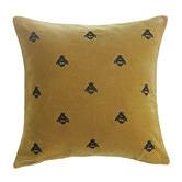 MM Linen Mustard Buzz Cotton Velvet Cushion