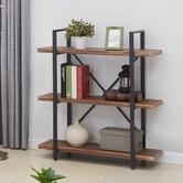 Evie Home Neville 3 Tier Industrial Bookshelf