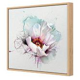 Designer ArtHouse Explosion Of White Canvas Wall Art