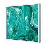Designer ArtHouse Life Is A Mystery Emerald Square Canvas Wall Art