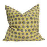 Macey & Moore Artisan Block Printed Wishing Well French Linen Cushion