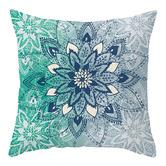 Luxton 4 Piece Aqua Turquoise Microfibre Cushion Covers