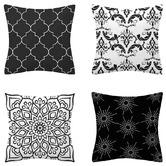 Luxton 4 Piece Flannel Decorative Cushion Cover Set