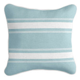 Willow Home & Living French Stripe Square Linen-Blend Cushion Cover