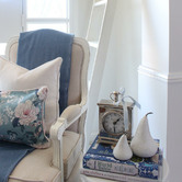 Willow Home & Living Elizabeth Rectangular Linen-Blend Cushion Cover
