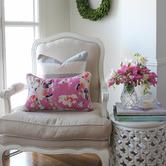 Willow Home & Living Grace Rectangular Linen-Blend Cushion Cover