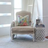 Willow Home & Living Oriental Romance Linen-Blend Cushion Cover