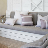 Willow Home & Living Off-White Bianca Linen-Blend Cushion Cover
