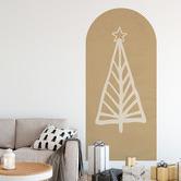 Siesta Walls Sage Christmas Evergreen Tree Reusable Decal Archway