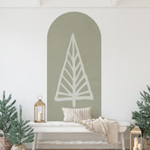 Siesta Walls Gold Christmas Evergreen Tree Reusable Decal Archway