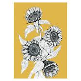 Frianki Mustard Sunflower Bunch Unframed Paper Print