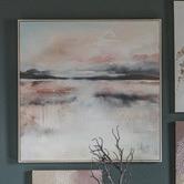 Beautiful Home & Living Bright Dawn Framed Canvas Wall Art