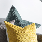 Beautiful Home & Living Diamond Moshino Quilted Velvet Cushion