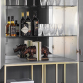 Beautiful Home & Living Scottie Cocktail Display Cabinet