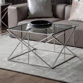 Beautiful Home & Living Maui Glass & Steel Coffee Table