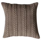 Beautiful Home & Living Serena Embroidered Chenille Cotton-Blend Cushion