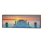 Art Illusions Sunset Pier Canvas Print