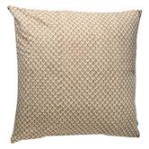Kolka Beige Quilted European Cushion Cover