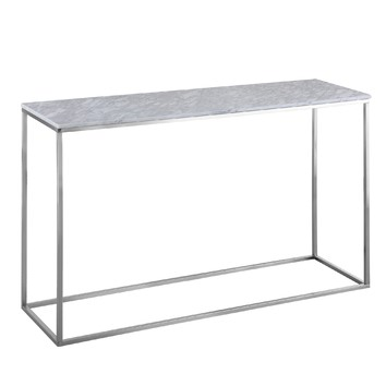 Annecy white marble console table temple webster for Coffee tables brisbane qld