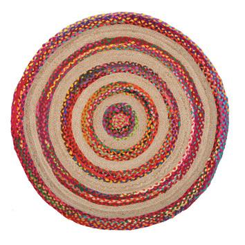 Radiant Jasmine Hand Braided Multi Coloured Rug Temple