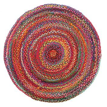 Flavour Jasmine Hand Braided Multi Coloured Rug Temple