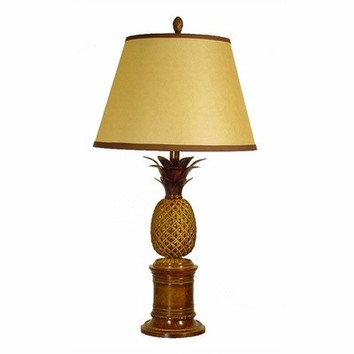 Bermuda Pineapple Table Lamp In Brown Base Only Temple