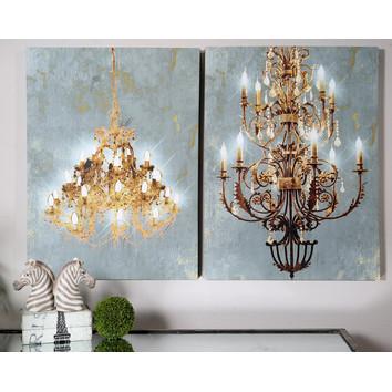 Chandelier Wall Art 2 piece chandelier wall art set | temple & webster