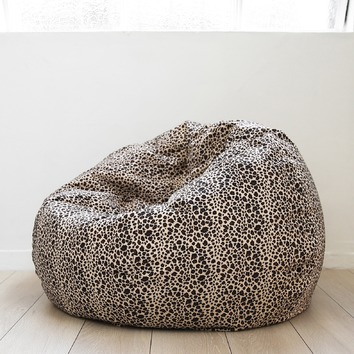 Micro Fur Beanbag Cover Leopard Print Temple Amp Webster