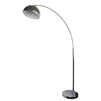 dome arc floor lamp in chrome temple webster. Black Bedroom Furniture Sets. Home Design Ideas