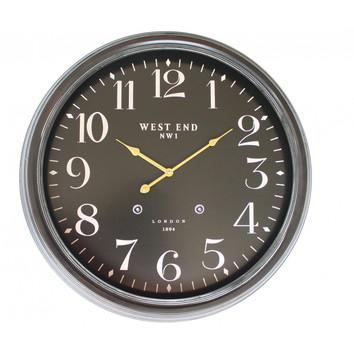West End 63cm Black Clock Temple Amp Webster