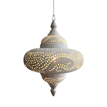 Matt White Moroccan Spherical Pendant Light Temple Amp Webster