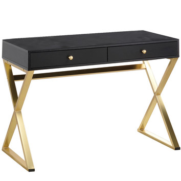 Black Gold Marilyn Office Desk Temple Webster
