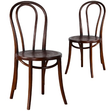 Thonet replica no 18 bentwood dining chairs temple webster for Thonet replica chair