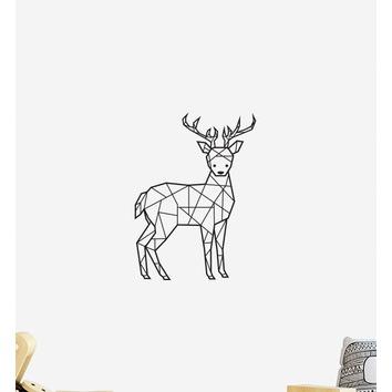 geometric deer wall sticker | temple & webster
