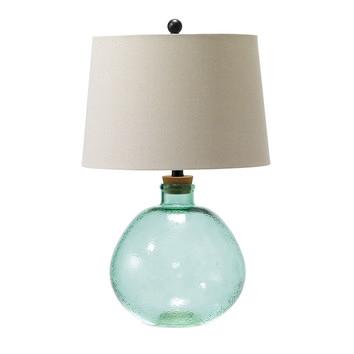 aquamarine joan fillable table lamp temple webster. Black Bedroom Furniture Sets. Home Design Ideas