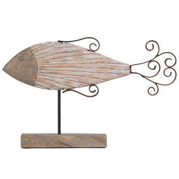 Long Fish Wooden Figurine