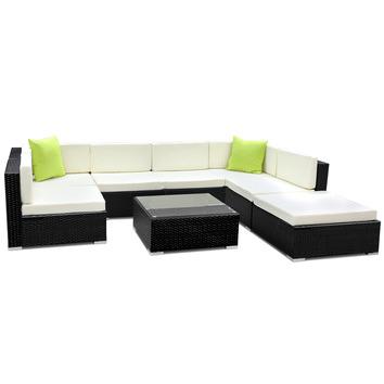 Gideon 8 Piece Outdoor Wicker Sofa Lounge Set Temple